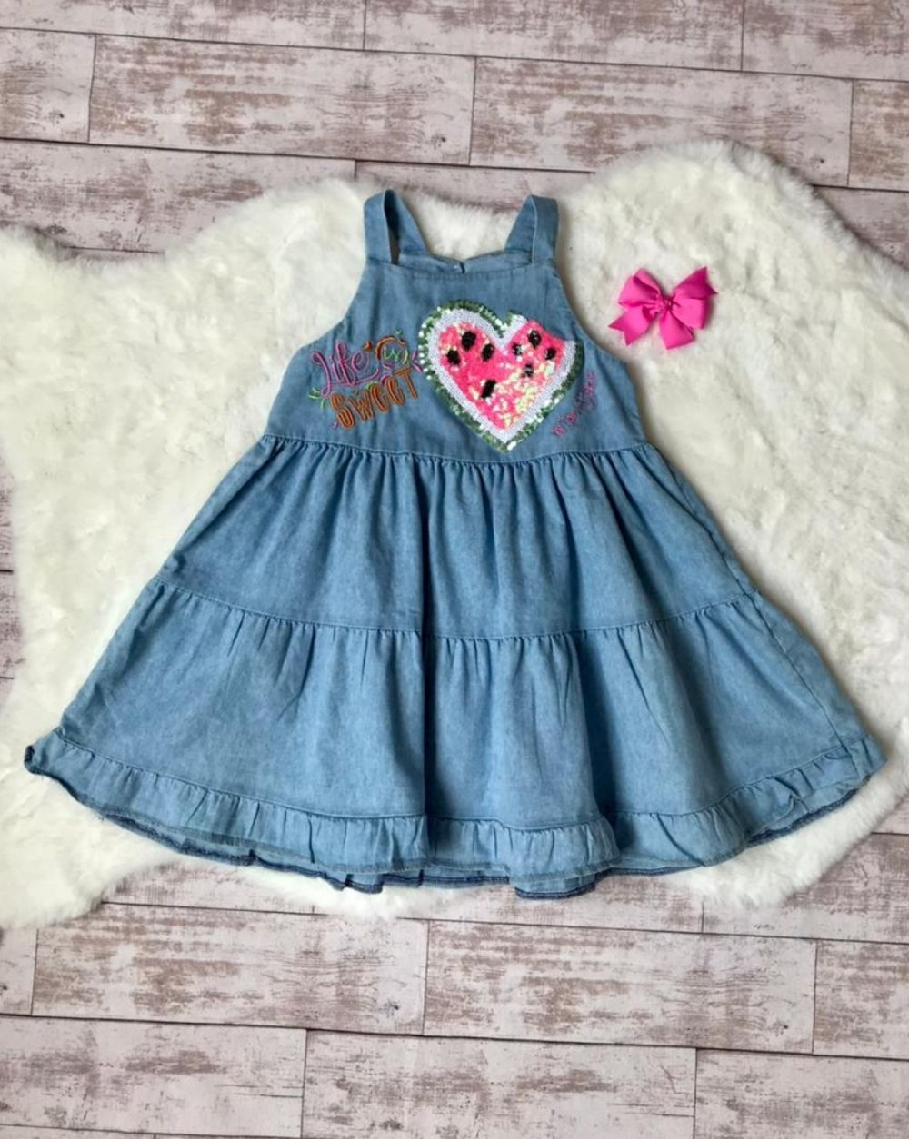 Vestido Jeans Candy Mon Sucre Infantil