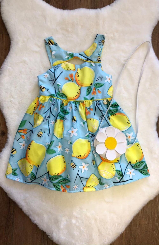 Vestido Lemon com Bolsa de Margarida Mon Sucre