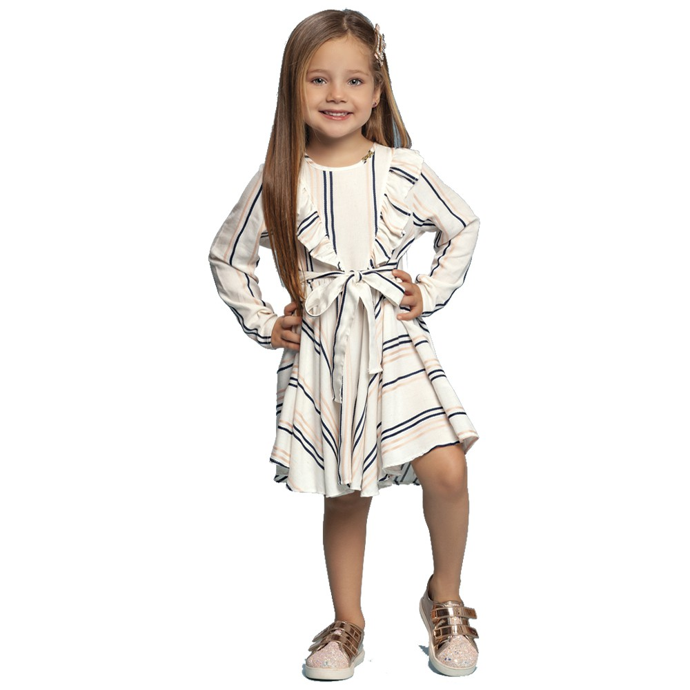 Vestido Listras Babadinho Charpey Infantil