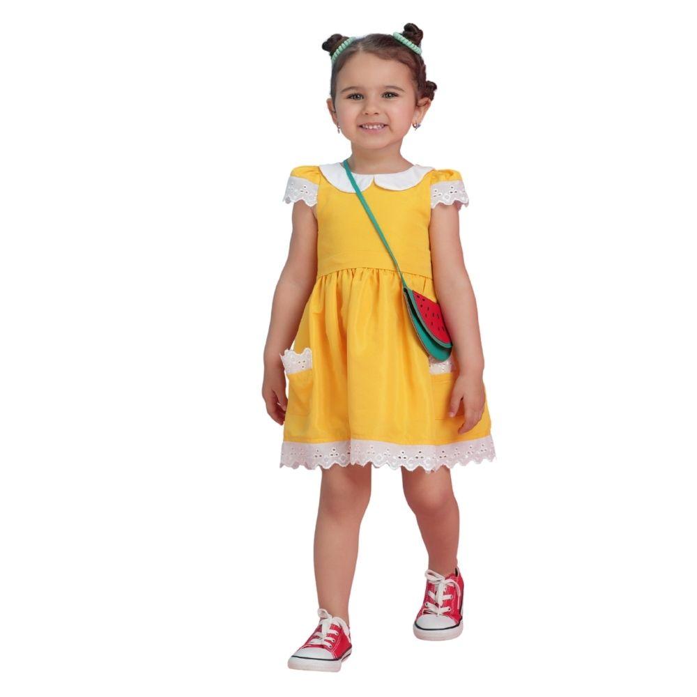 Vestido Magali com Bolsa Melancia Turma da Mônica Mon Sucre Infantil