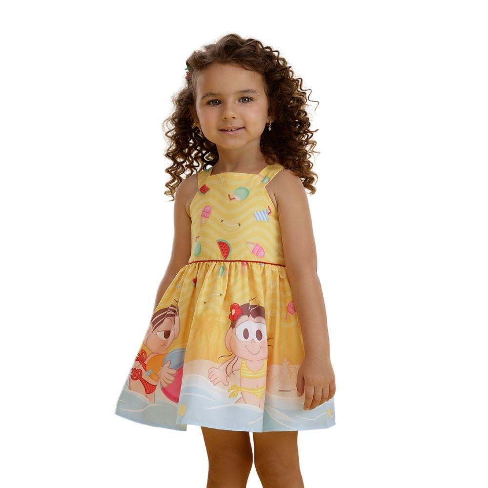 Vestido Magali e Mônica Turma da Mônica Mon Sucre Infantil
