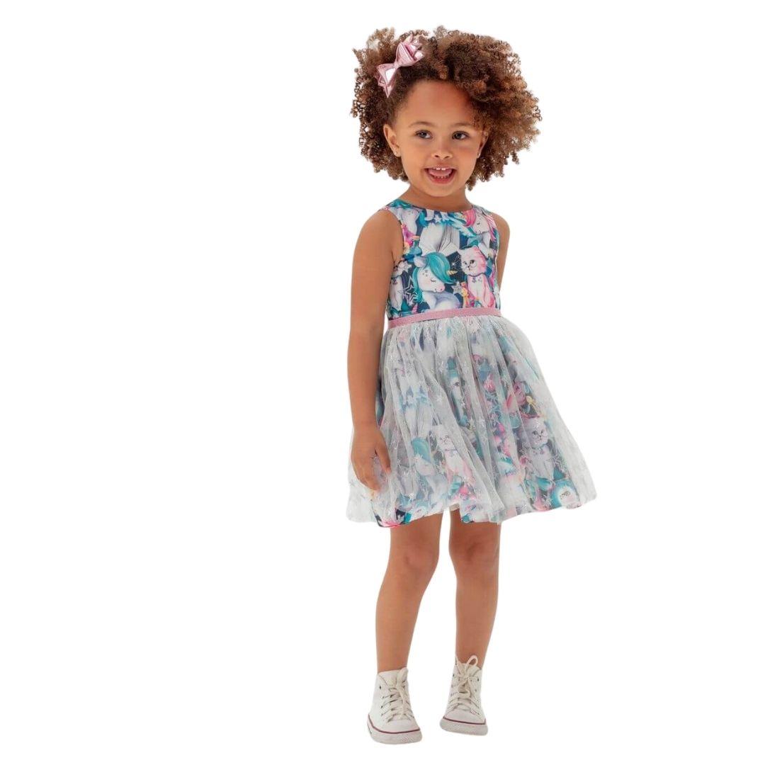 Vestido Magia de Tule Mon Sucre Infantil