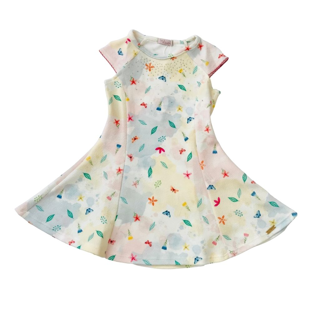 Vestido Malha Mini Flores Monsucre