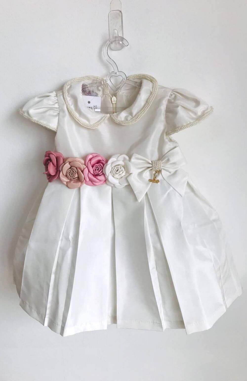 Vestido Marfim Flores Roana Acessórios