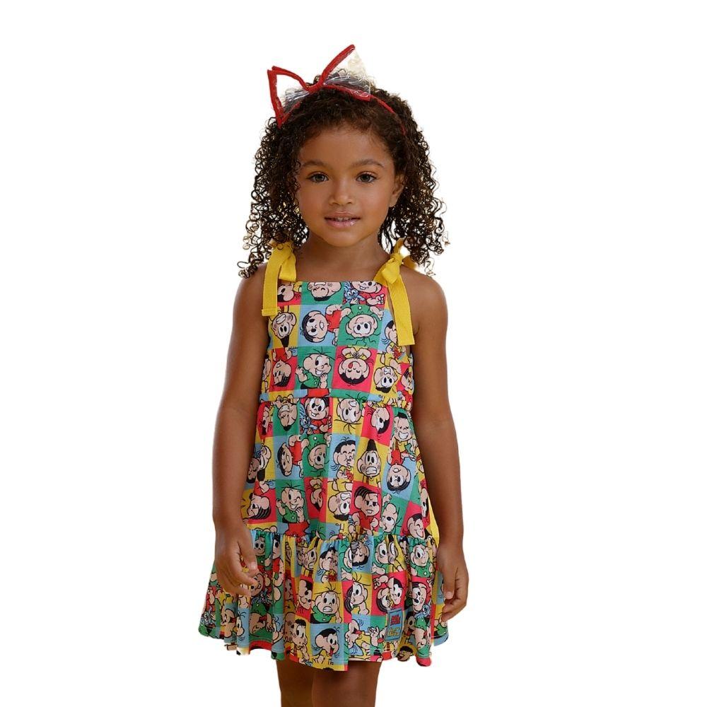 Vestido Memes Turma da Mônica Mon Sucre Infantil