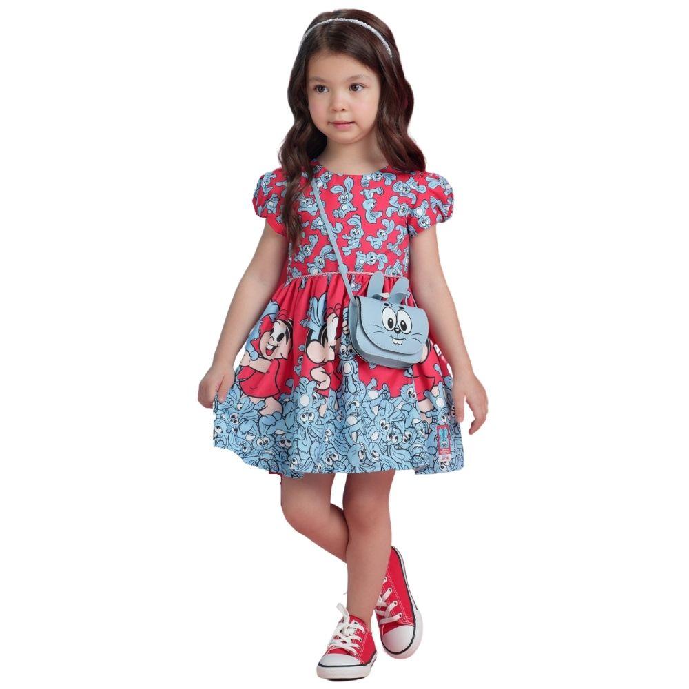 Vestido Mônica com Bolsa Sansão Mon Sucre Infantil