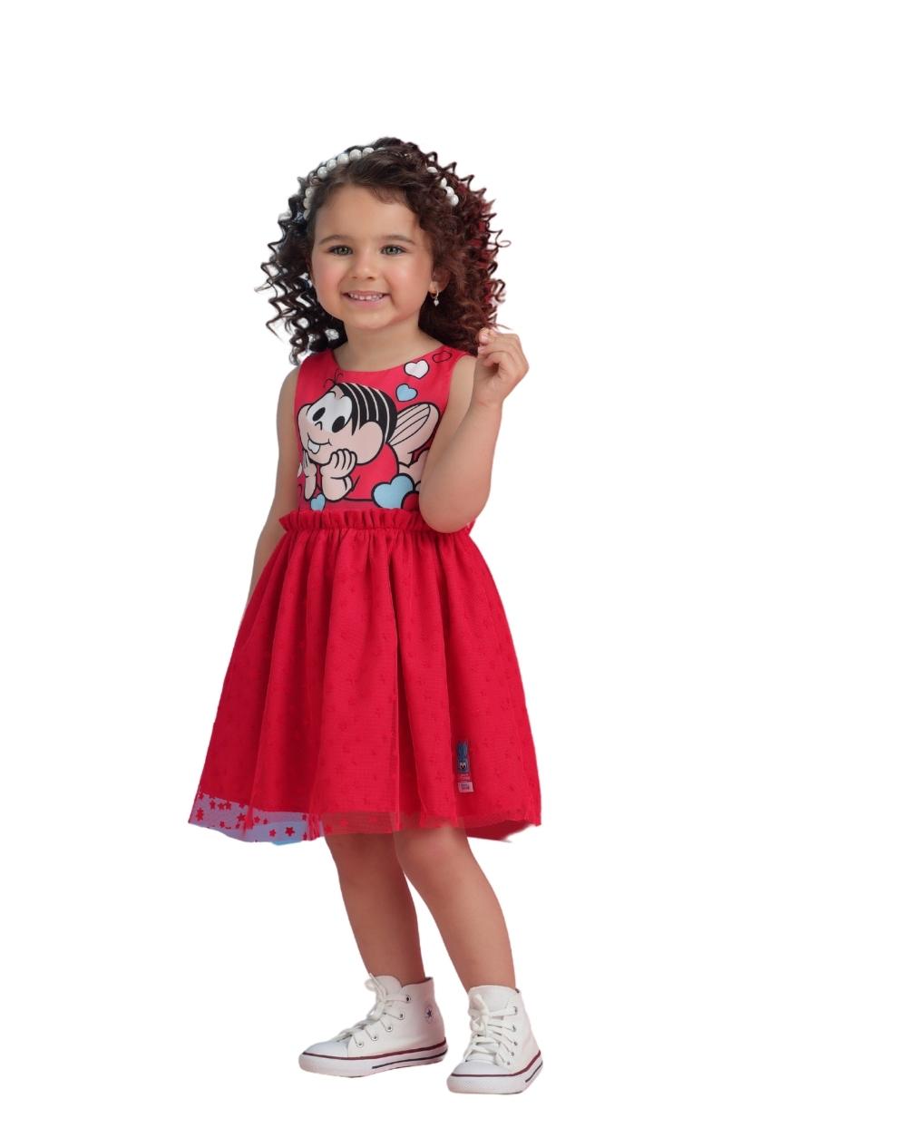 Vestido Mônica e Sansão Mon Sucre Infantil