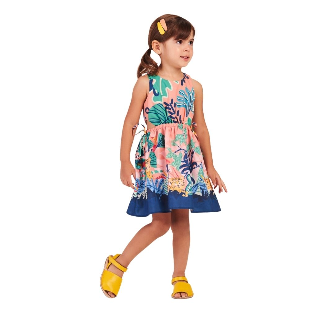 Vestido Onça Floresta Mon Sucre Infantil
