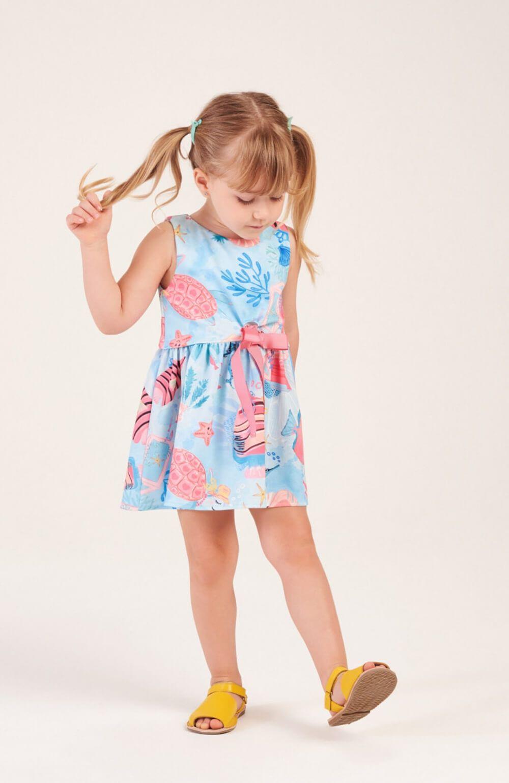 Vestido Peixinhos do Mar Mon Sucre Infantil