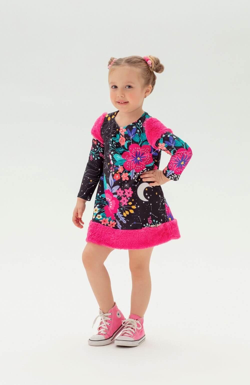 Vestido Pink Star Mon Sucre Infantil
