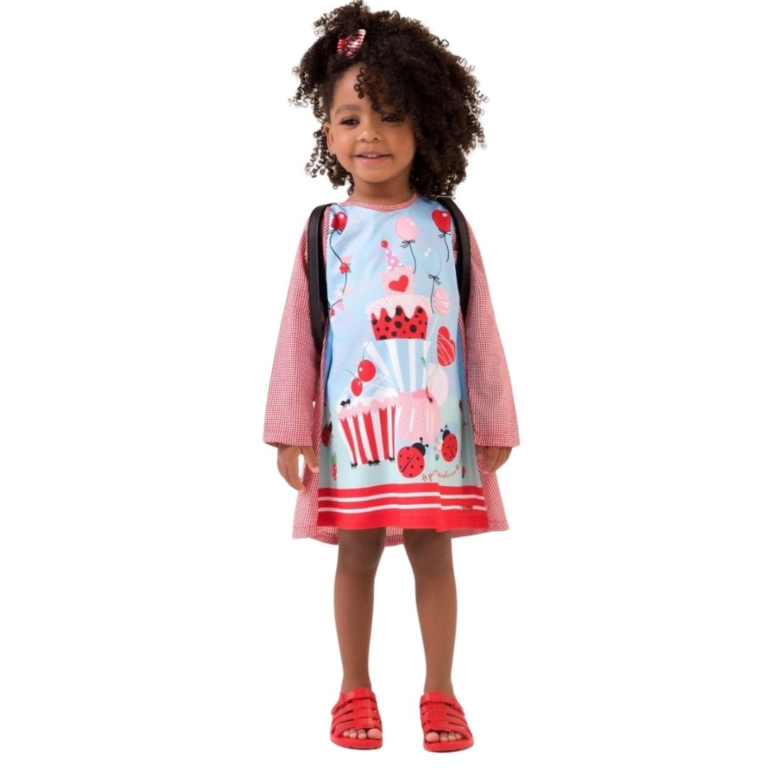 Vestido Piquenique Mon Sucre Infantil