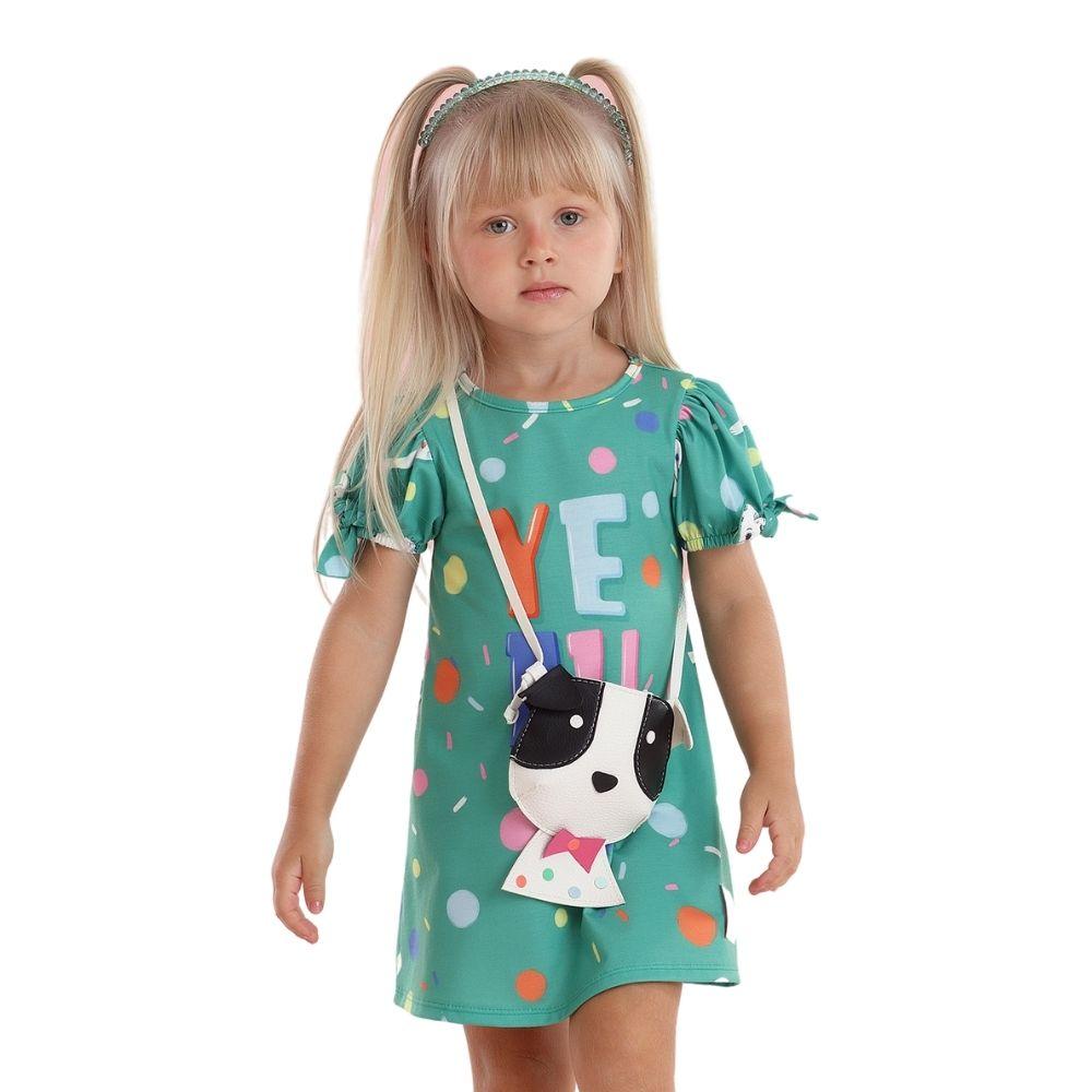 Vestido Poá com Bolsa Dog Mon Sucre Infantil