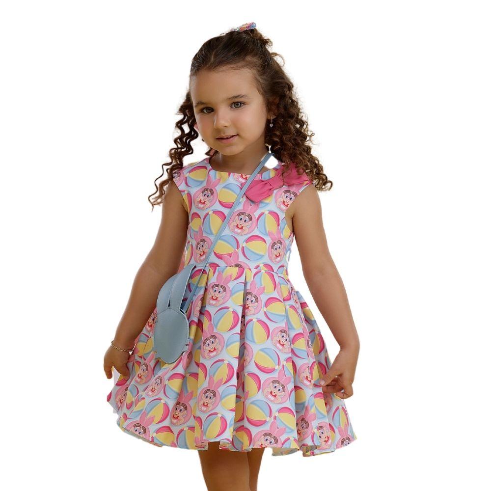Vestido Pop Doces com Bolsa Turma da Mônica Mon Sucre Infantil