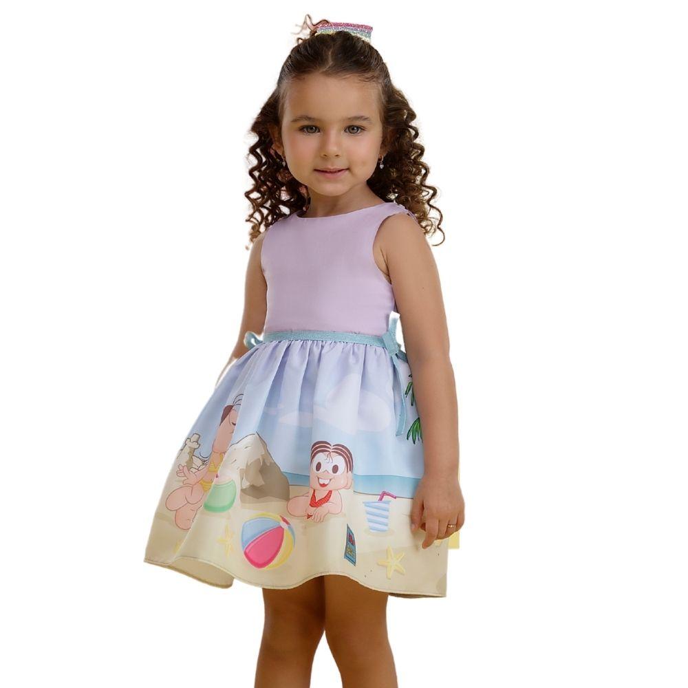 Vestido Pop Doces Lilás Turma da Mônica Mon Sucre Infantil