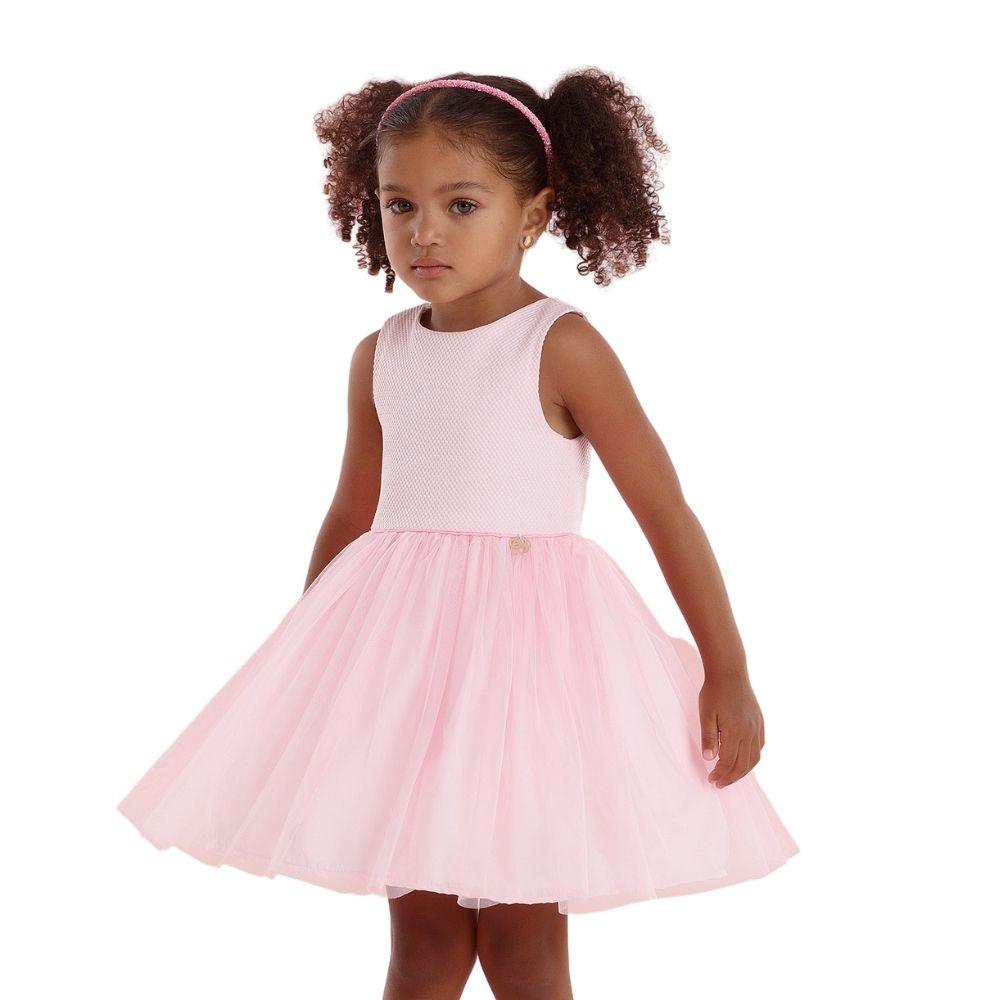 Vestido Rosa Bem Me Quer Mon Sucre Infantil