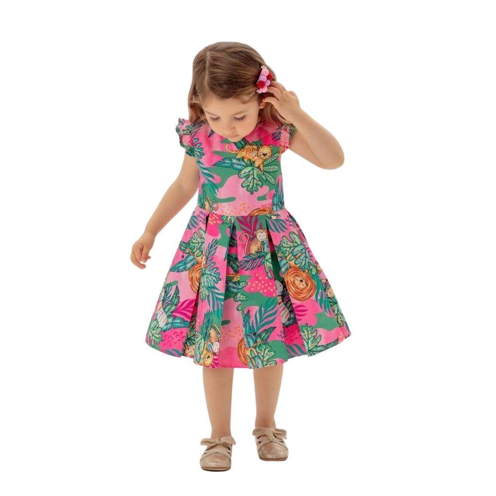 Vestido Safári Mon Sucre Infantil