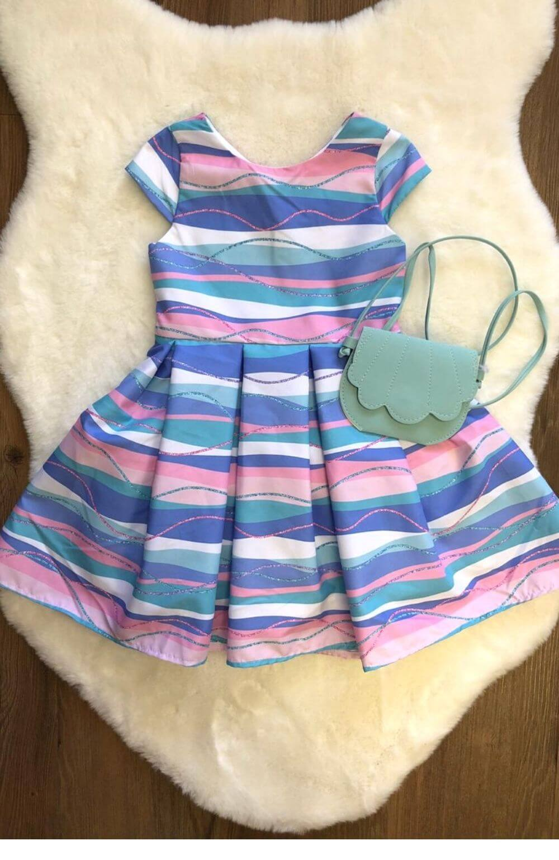 Vestido Sereia com Bolsa Mon Sucre Infantil
