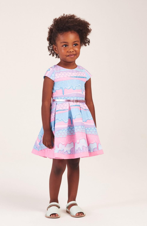 Vestido Sereia com Cinto Mon Sucre Infantil