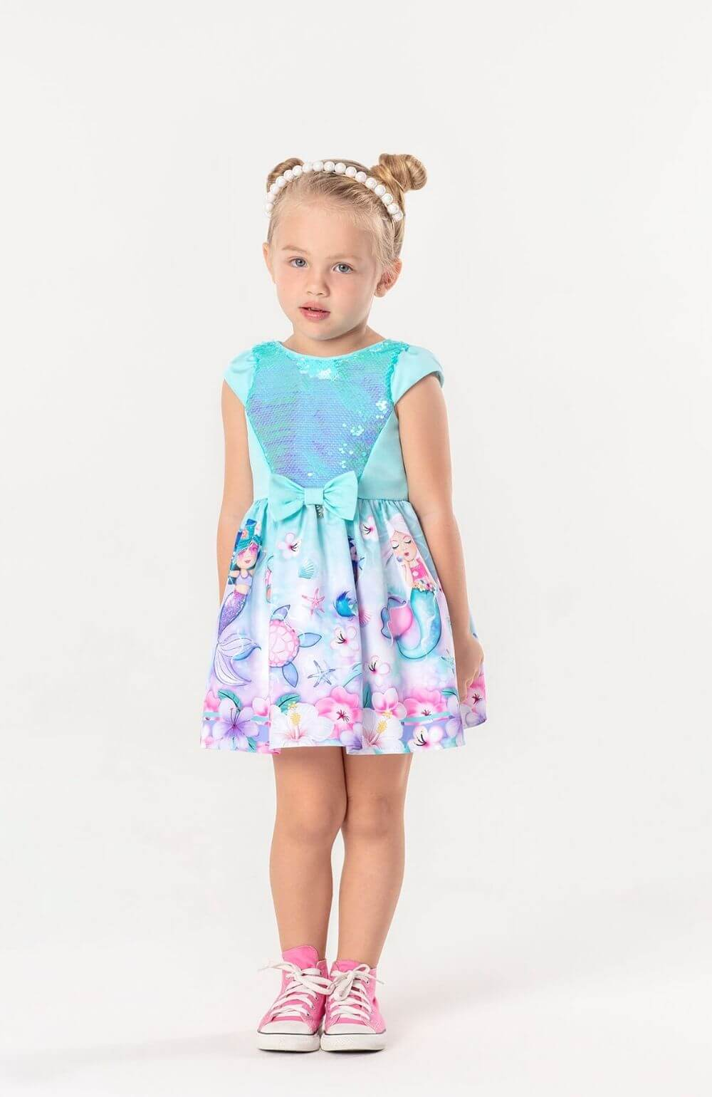 Vestido Sereia Magic Mon Sucre Infantil