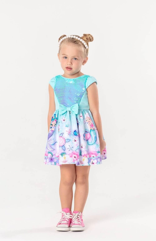 Vestido Sereia Magic Mon Sucre Infantil