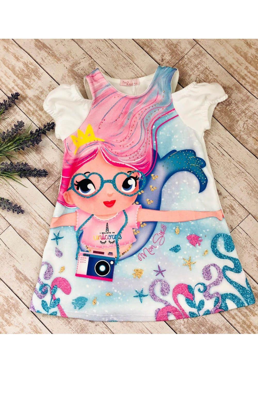Vestido Sereia Mon Sucre Infantil