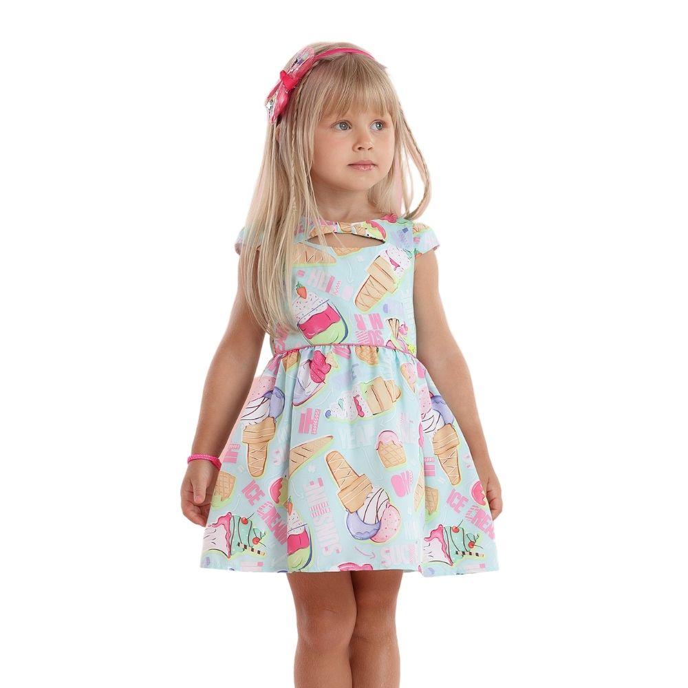 Vestido Sorvete Mon Sucre Infantil