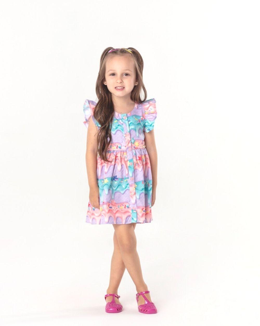 Vestido Sorvete Summer Mon Sucre Infantil