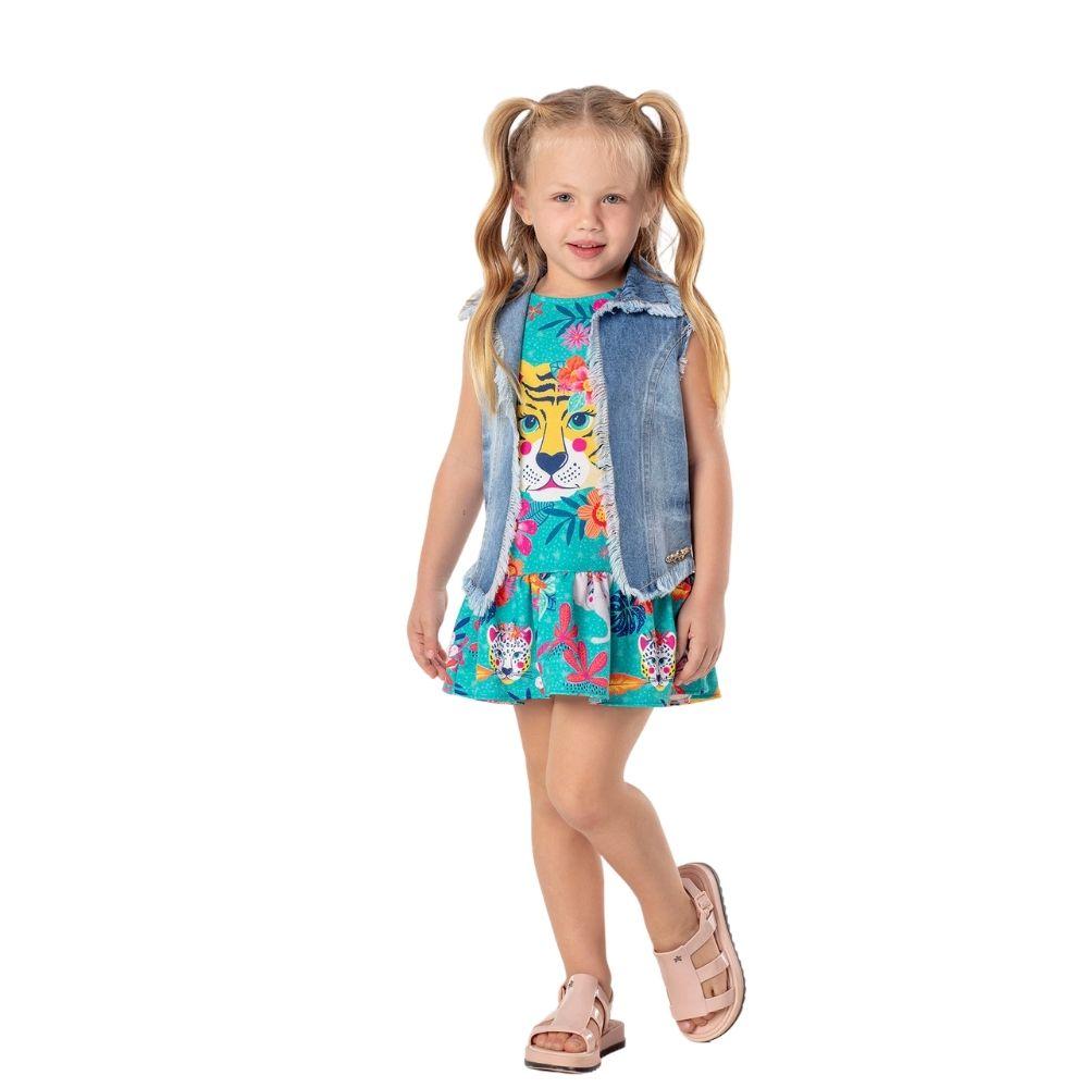 Vestido Tropicalia Mon Sucre Infantil