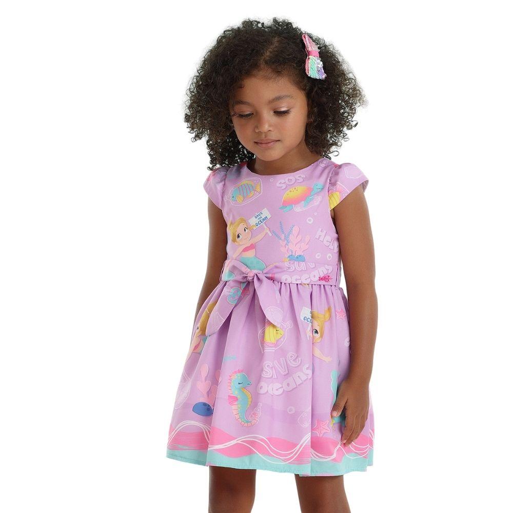 Vestido Atlantic Sereia Mon Sucre Infantil