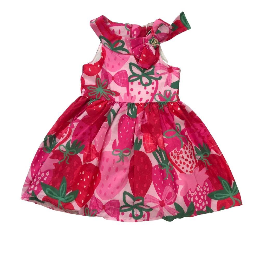 Vestido Verão Happy Moranguinho Mon Sucre Infantil