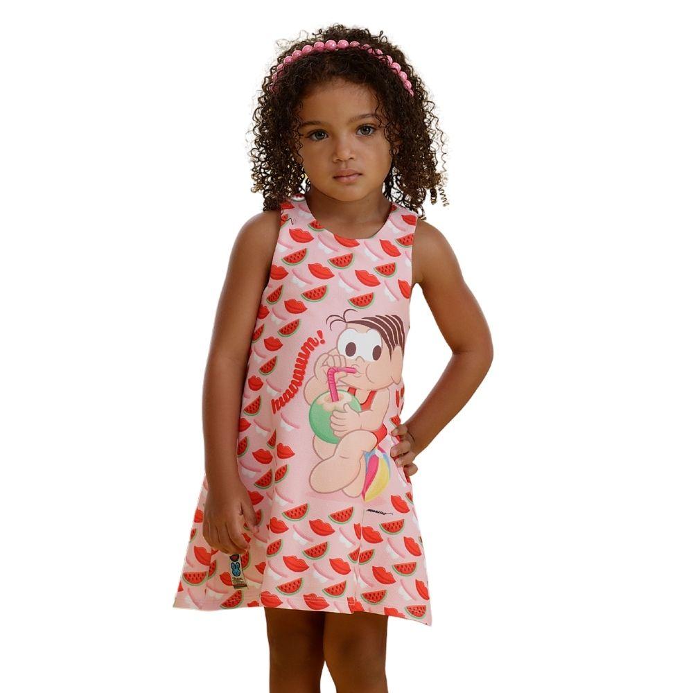 Vestido Verão Pop Frutas Mônica Turma da Mônica Mon Sucre Infantil