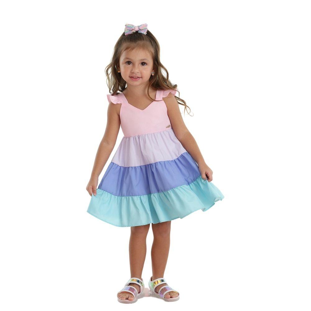 Vestido Verão Sweet Galaxy Mon Sucre Infantil