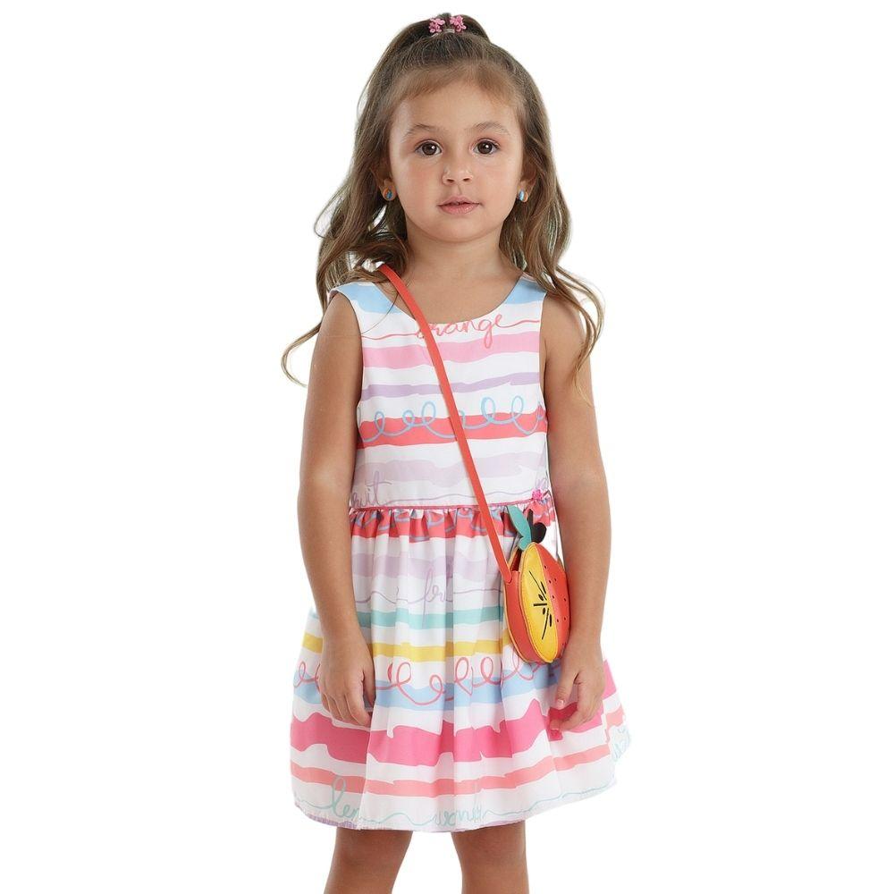 Vestido Tutti Frutti Com Bolsa Mon Sucre Infantil