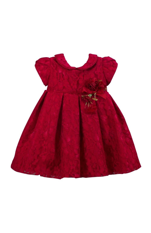 Vestido Vermelho Renda Roana Acessórios