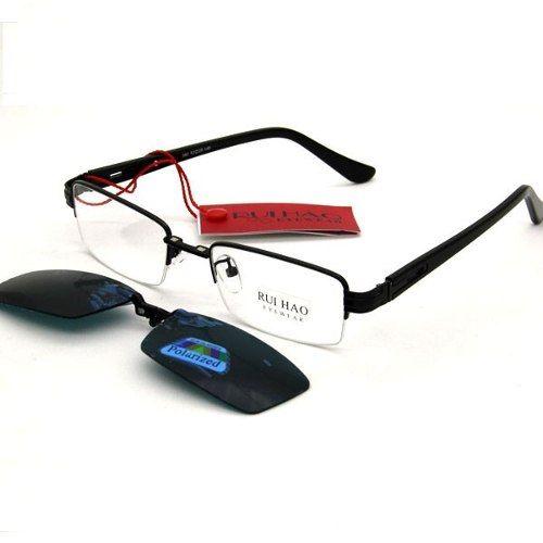 ca906da04 Armação Óculos De Grau Com Clip On Proteçao Uv400 - Loja Nobre