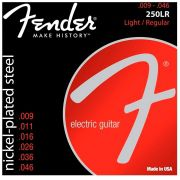 Encordoamento Fender 250LR Nickel-Plated Steel 09-46 - Cordas para Guitarra