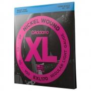 Encordoamento Para Baixo 4 Cordas Escala Longa .045-.100 D'Addario XL Nickel Wound EXL170