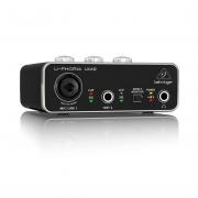 Interface De Áudio Usb Behringer UM2 U-Phoria