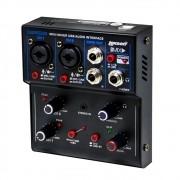 Mesa de Som Go Mix 2 Lexsen 2 Canais com Interface de Áudio