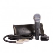 Microfone Com Fio Cardioide, Cabo 3m C/Cachimbo LM-58S Lexsen