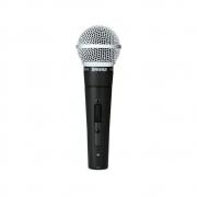 Microfone Shure SM58S de Mão Dinâmico Cardioide Para Vocais