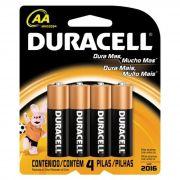 Pilha Alcalina AA MN1500 Cartela C/4 Pilhas) Duracell
