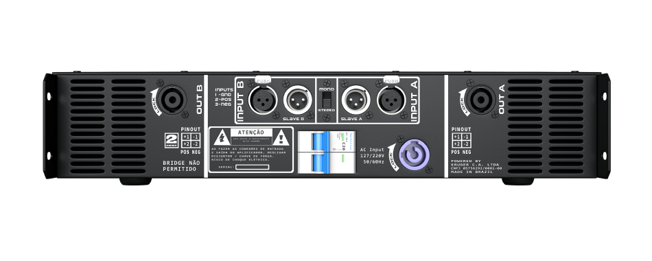 Amplificador DB Series LD2k - 2100W Rms 2 Canais Bivolt