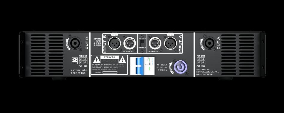 Amplificador DB Series LD3k - 3100W Rms 2 Canais Bivolt