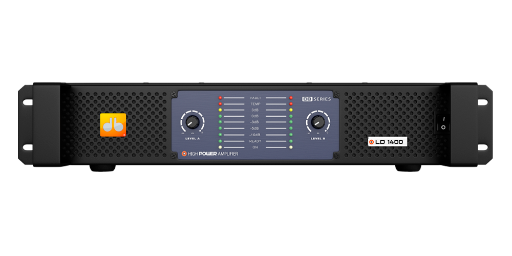 Amplificador DB Series LD 1400 - 1400W Rms 2 Canais Bivolt