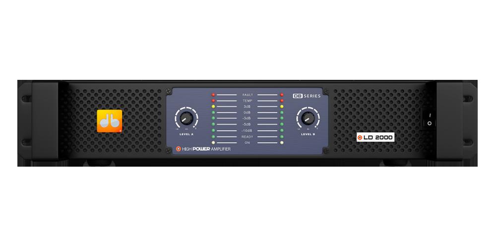 Amplificador DB Series LD 2000 - 2000w Rms 2 Canais Bivolt