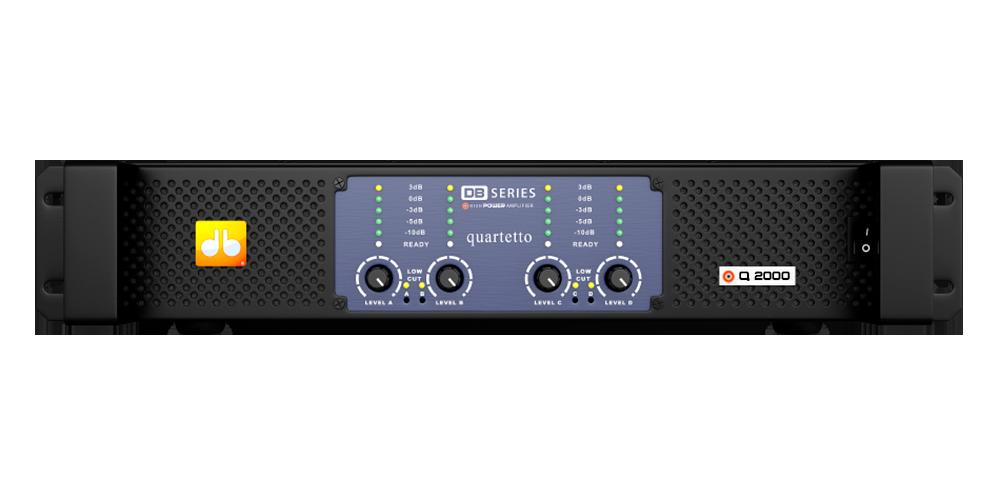 Amplificador DB Series Quartetto Q2000 - 2200W Rms Bivolt