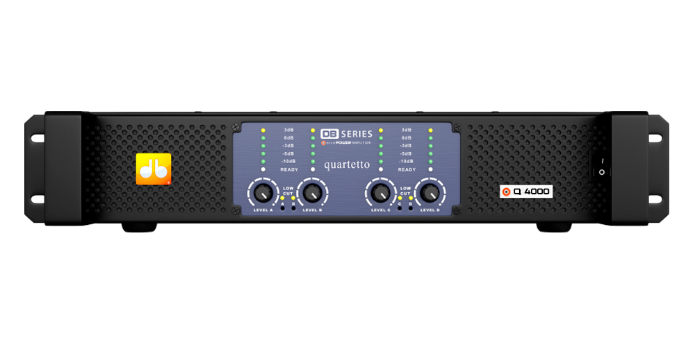 Amplificador DB Series Quartetto Q4000 - 4200W Rms 220V