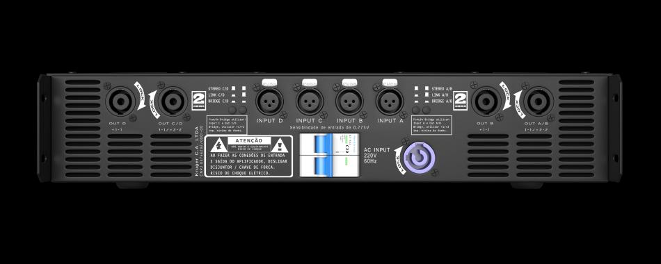 Amplificador DB Series Quartetto Q6K - 6100W Rms 220V