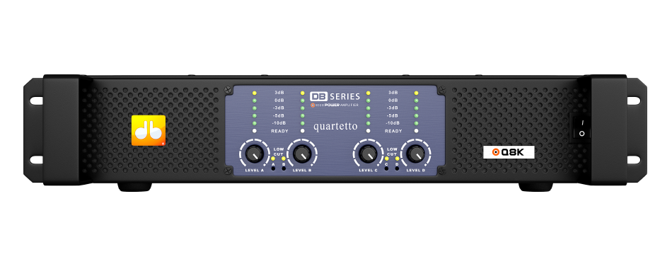 Amplificador DB Series Quartetto Q8K  - 8100W Rms 220V